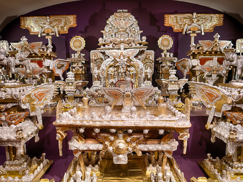 "They moved ""The Throne of the Third Heaven of the Nations' Millennium General Assembly"" slightly at the Smithsonian Art Museum. I think it looks better. It is an incredible work of art by amateur"