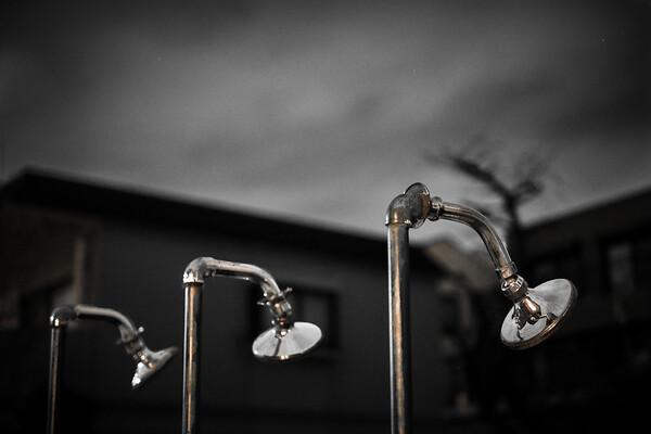 Feb 19. Outside shower