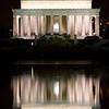 A House Divided - The Lincoln Memorial and the Reflecting Pool at Night - Washington, DC.