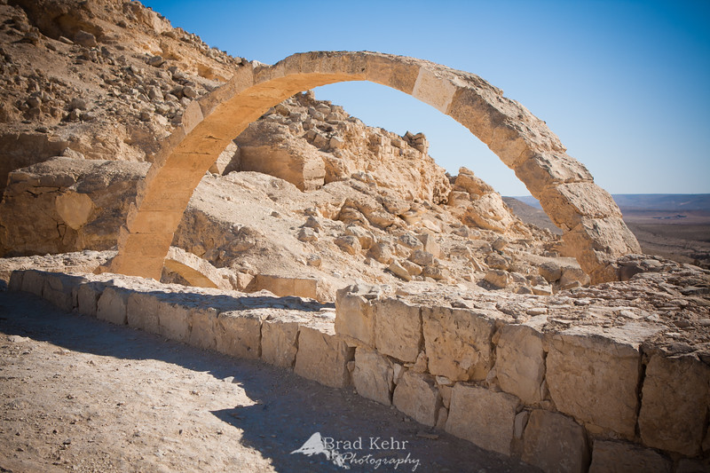 Avdat, Israel - The ruins of a city on the Incense Route, a UNESCO protected site and part of Avdat National Park.