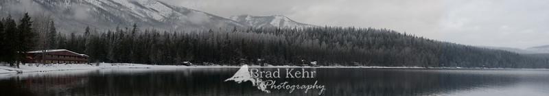 Lake MacDonald Lodge - Panarama - Glacier National Park - Montana.