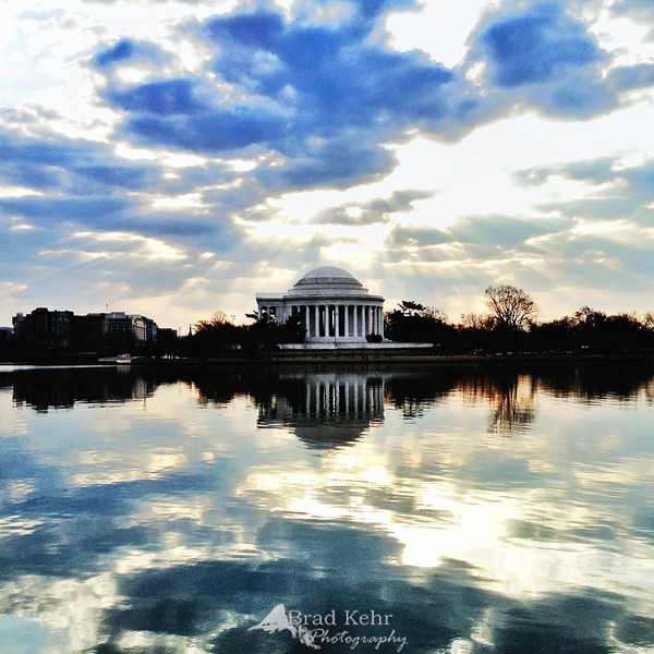 Sunrise over the Tidal Basin - Jefferson Memorial, Washington, DC