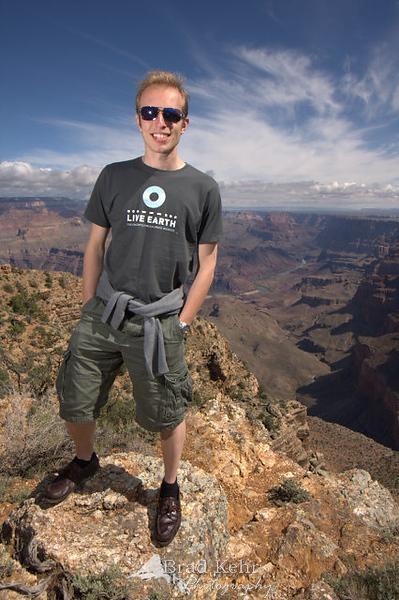 An Englishman at the Grand Canyon - Arizona.