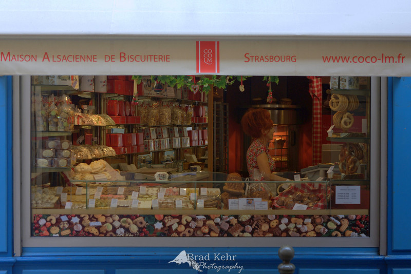Sweets shop in Strasbourg, France.