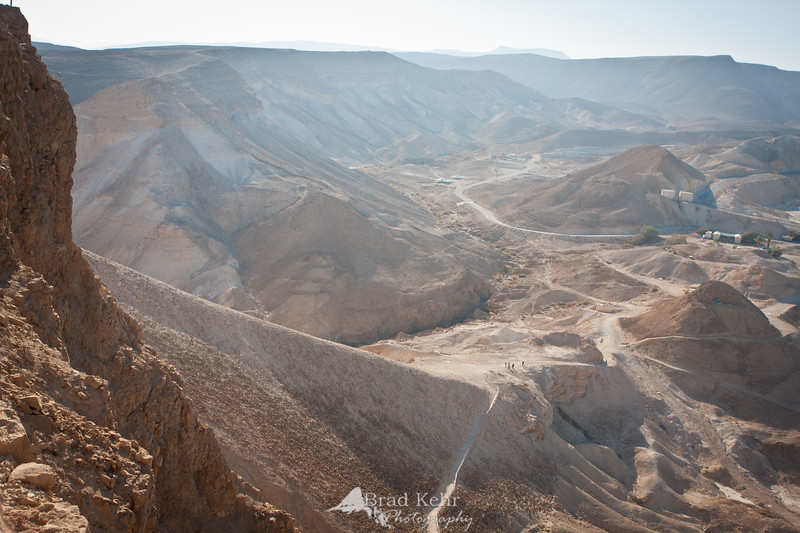 The Roman Ramp at Masada, Israel.
