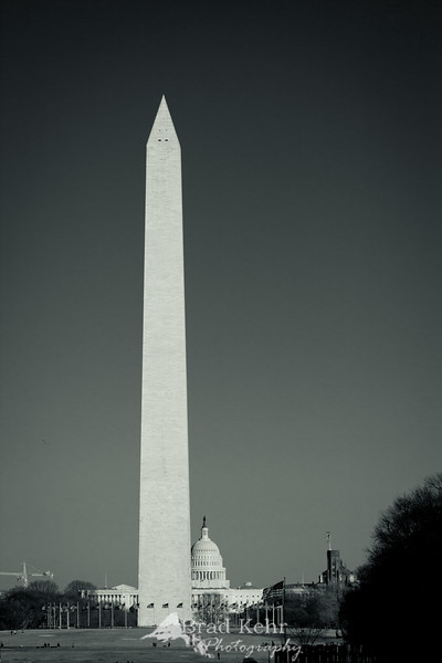 Washington Monument and the Capitol Building - Washington, DC.<br /> <br /> Beautiful day to shoot.
