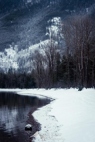 The Water's Edge - Lake MacDonald - Glacier National Park - Montana.