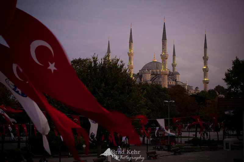 The first day of the adventure: The Blue Mosque in Instanbul, Turkey.