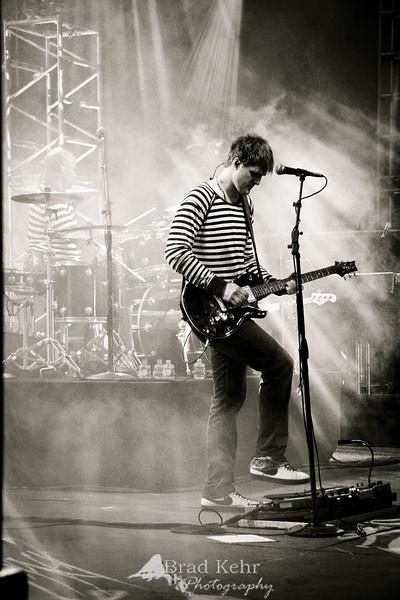 Toby Mac's guitarist at the Louis Palau Cityfest 2008.