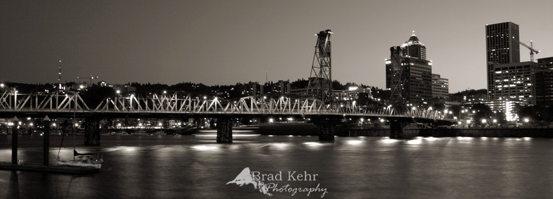 Bridge over the Willamette River - Portland, Oregon.
