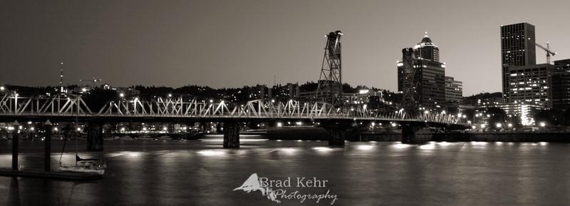 Bridge over the Willamette River - Portland, Oregon.