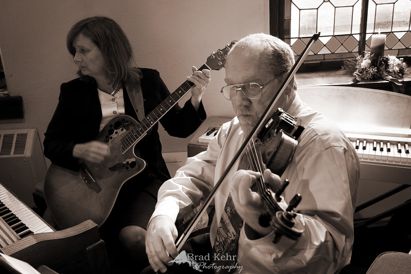 Playing the Processional - Musicians at a Wedding - Pennsylvania.