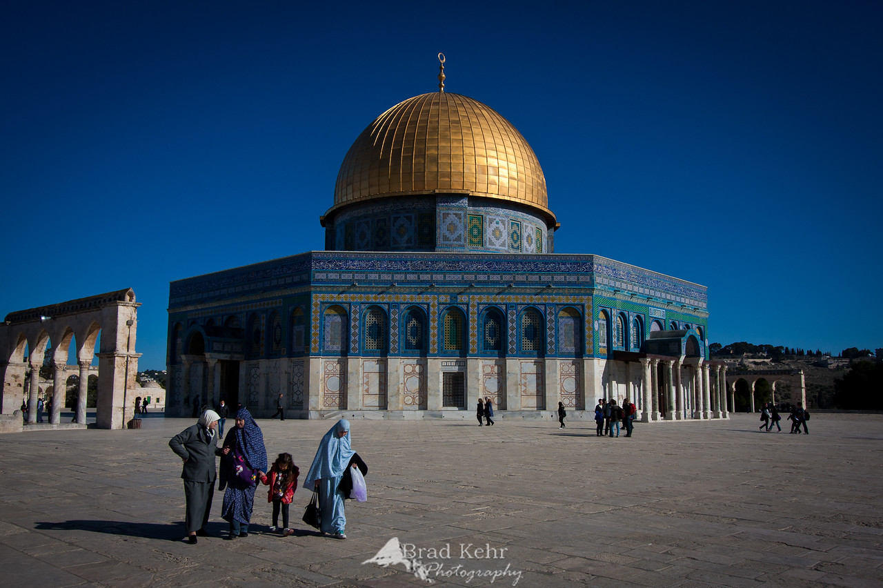 The Dome of the Rock on the Temple Mount - Jerusalem.