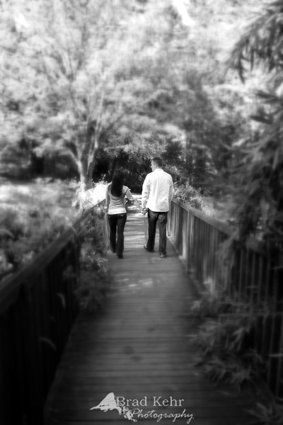 Crossing the Bridge - Engagement Session - Portland, Oregon.<br /> <br /> This is my first experiment with a Lens Baby on an actual shoot. I kind of like the results - looks like there is going to be a lot more experimenting.