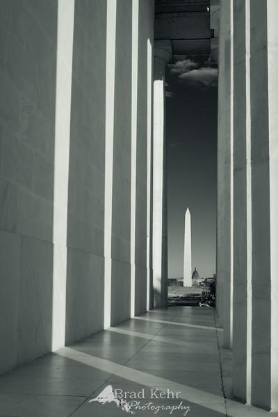 Washington Monument from the Lincoln Memorial - Washington, DC.