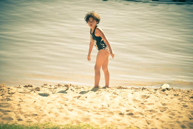 C at the beach