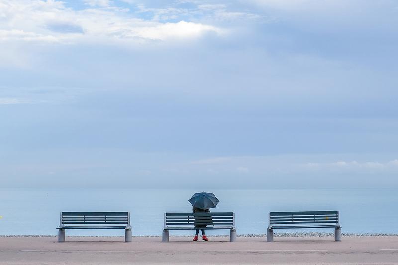 Le parapluie et la mer