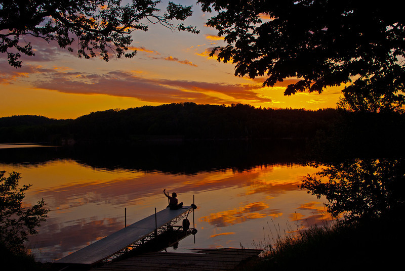 End of a pleasant evening on Grand Sable Lake in the Pictured Rocks National Lakeshore.