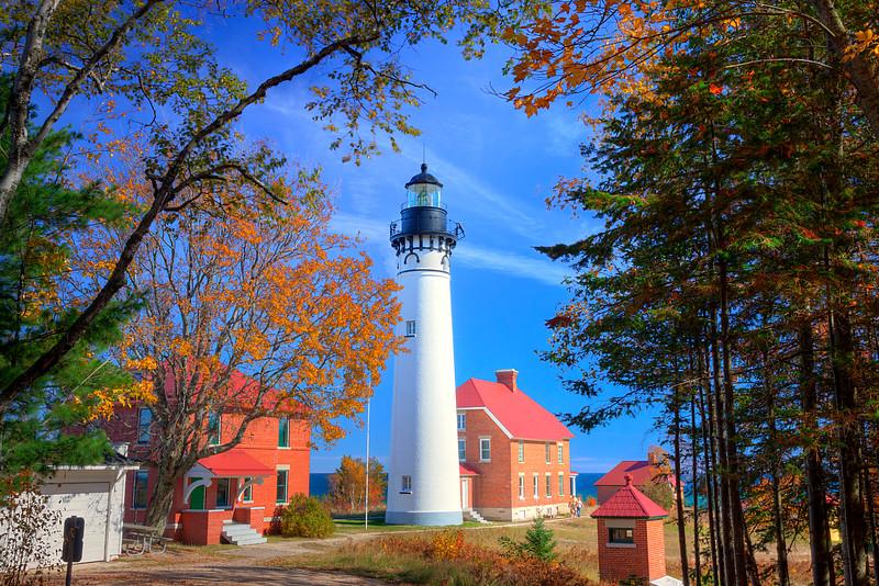 Fall Sable Point Lighthouse