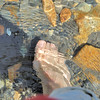 17 June 2012 10h 36mn  02s   Rustler Gulch : Crossing a creek bare foot  in ICE cold water !!!