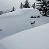 february 14 2012 , 1h00pm , pick up truck in the snow , Mount Crested-Butte