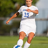 Georgia Lubrano, of Colby College, in a NCAA Division III soccer game on September 10, 2014 in Waterville, ME. (Dustin Satloff/Colby College Athletics)