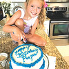 Susan Massey shares a picture of Ella Perry Massey  making her Peepaw a birthday cake with lots of love.