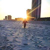 """My son walking into the sunset at Gulf shores Public Beach,'' writes Melissa Kitchens."