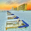 Beach chairs at sunset from Ricky Walker.