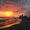 Vic Toth shares a sunset pic taken from the 9th floor condo balcony at Perdido Towers on Perdido Key.