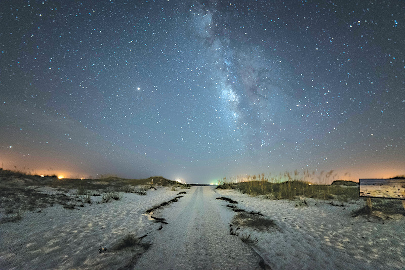 The Milky Way over Fort Morgan Beach courtesy of Winston McQuitery.