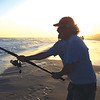 Stephen Reynolds shares a picture of his brother George enjoying a little surf fishing at sundown.