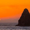 July - Pacific Ocean Setting Sun