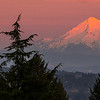 February Hood setting sun