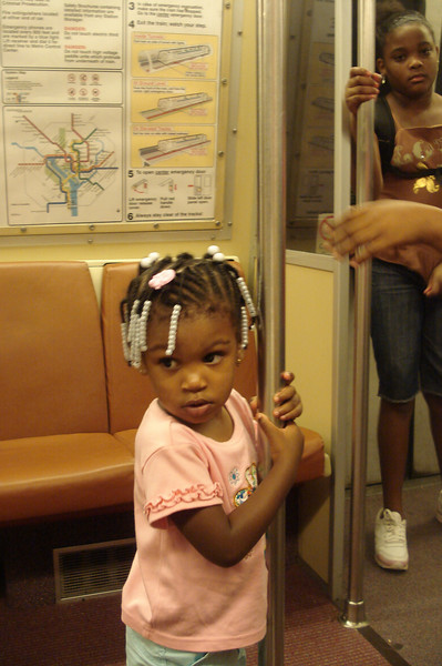 Subway ride to the zoo.