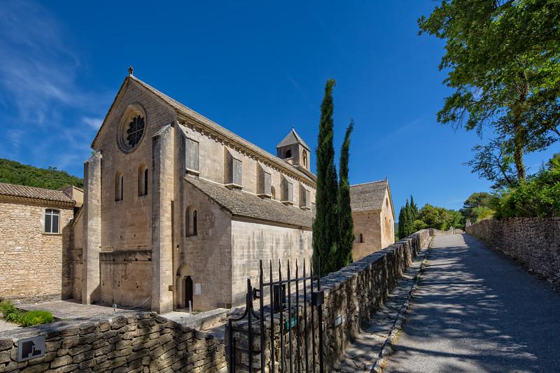 Entrance of Abbaye Notre-Dame de Senanque