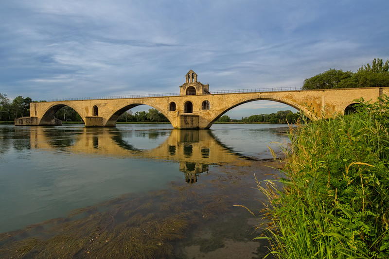 Pont Saint-Bénézet in Avignon at sunset