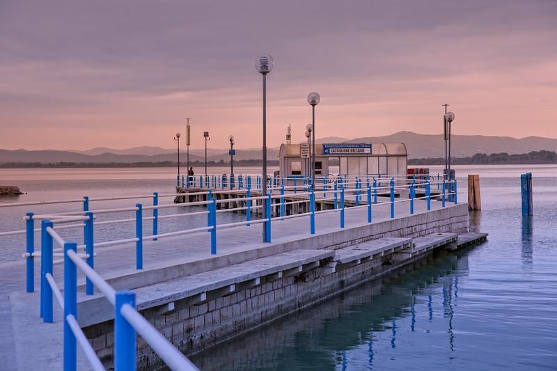 Sunset at Lake Trasimeno