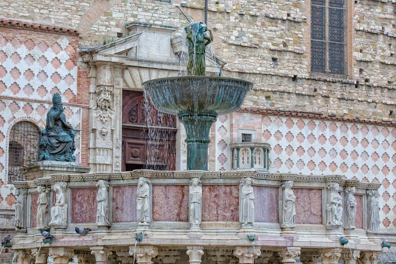Fountain Maggioreis in the major square of Perugia
