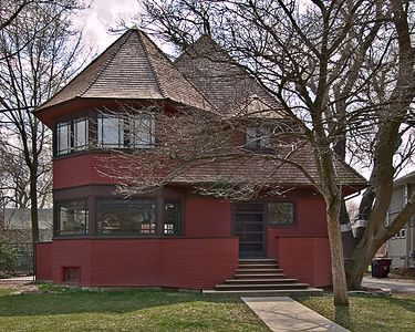 An early Frank Lloyd Wright house in Oak park