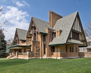 An early Frank LLoyd Wright house - not yet Prairie style - in Oak Park, Illinois