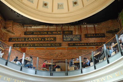First stop - FANEUIL HALL - Quincy Market - to feed the family.