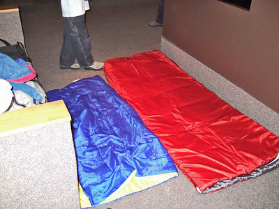 Our sleeping bags
