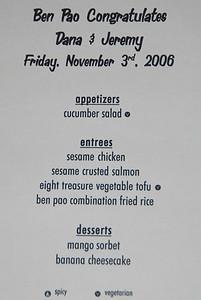 2006 - November - Jeremy and Dana's wedding - The Rehearsal Dinner