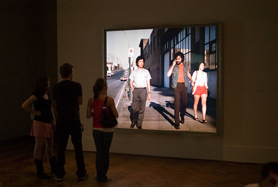 The Art Institute had a show by the Canadian photographer Jeff Wal. Size matters!