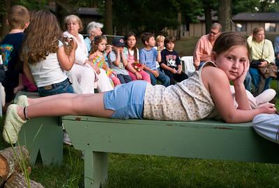 Julia waits her turn