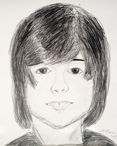 My sketch of Jacob drawn from a photograph during my second drawing lesson