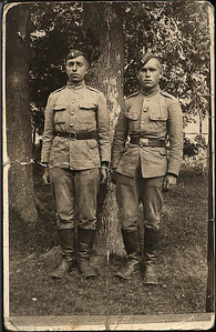 Sam in Russian Army uniform, on left. 1928