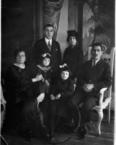 The Goldin Family in Dvinsk ca 1928  From left to right:  Rivka (Goldin, nee Dorfan) - Killed 1941  Chaya - Last recorded as being in the Dvinsk ghetto on Dec 5, 1941  Chaikel - Emigrated to Port Elizabeth, South Africa - Descendants now in UK, USA, and Australia  Minnie - Emigrated to Springs, South Africa - Descendants now in South Africa and Israel  Mary - Emigrated to Witbank, South Africa - Descendants now in USA and Australia  Zelik - Killed 1941