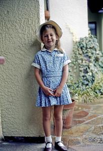 May 1976 - Karen starts school in her first school uniform